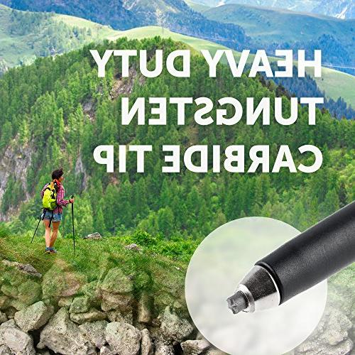 Trekking Women 100% Sticks - Shock-Absorbent Natural Grips Mountaining Walking Hiking