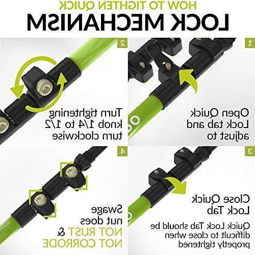 CAMMPO Trekking Ultra Strong Lightweight Aluminum 7075   Collapsible Hiking/Walking w/Tungsten Quick Adjust Flip-Lock & Cork