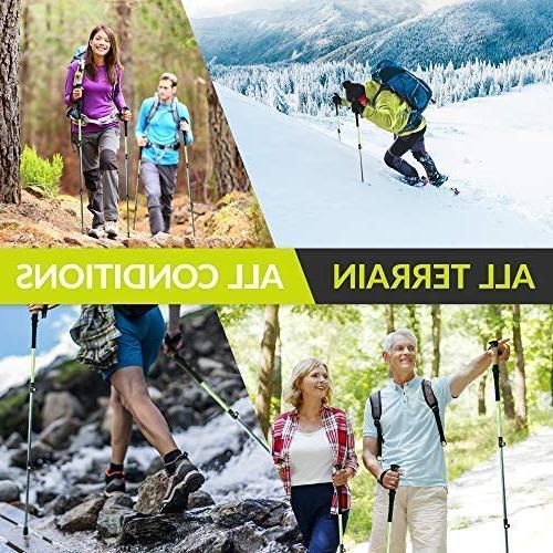 CAMMPO Poles Ultra Strong Aluminum   Hiking/Walking Sticks Quick Adjust & Grip