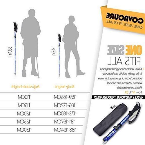 Trekking Poles 7075 Trekking Sticks,Antishock Quick Lock System, Collapsible, Ultralight Hiking, Camping