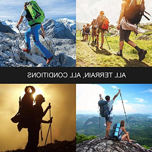 TOLKA Trekking Hiking Running Sticks with Natural Cork for Outdoor Walking Climbing-1 …