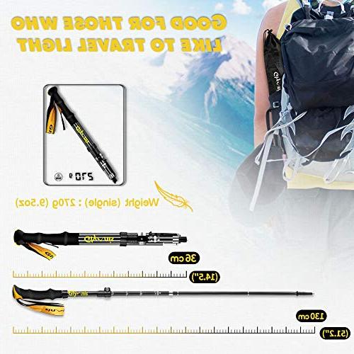 Glymnis Collapsible Hiking Poles with Tips Quick Lock