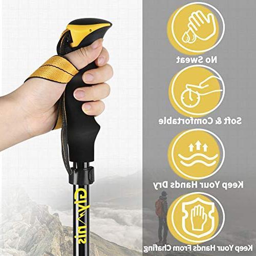 Glymnis Poles Hiking Poles Lightweight Poles Sticks Tips Quick Flip Lock 7075 Aluminum Pack