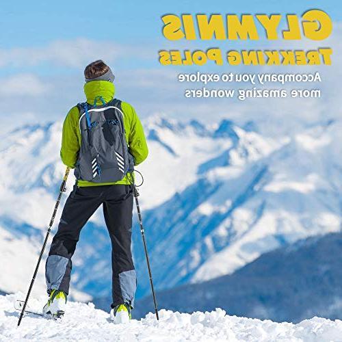 Glymnis Trekking Hiking Poles Poles Sticks with Tungsten Tips 7075 Aluminum