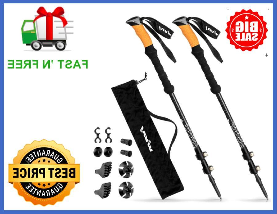 trekking poles durable carbon fiber hiking pole