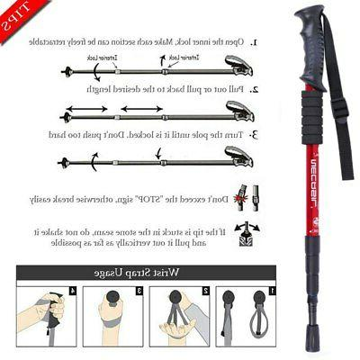 Trekking poles stick cane ski camp telescopic baton