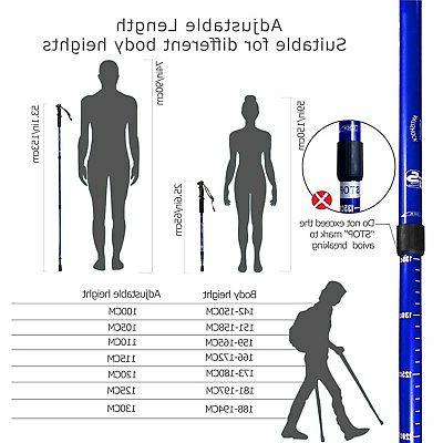 Trekking stick ski telescopic