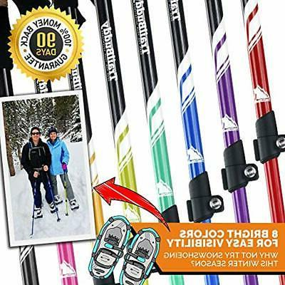 Trekking Hiking Sticks - 2-pc Adjustable Walking