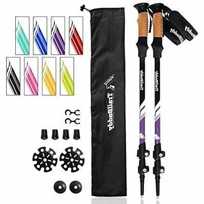 trekking poles hiking sticks 2 pc pack