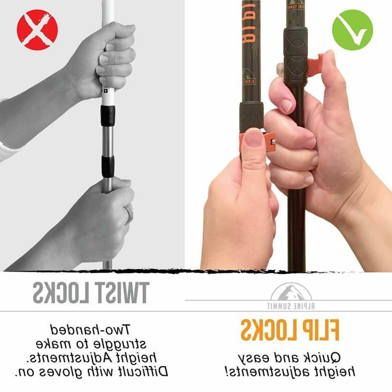 Alpine Poles Collapsible / Sticks, Tungs