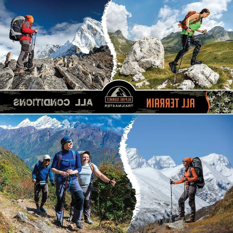Alpine Trekking Collapsible Hiking Sticks,