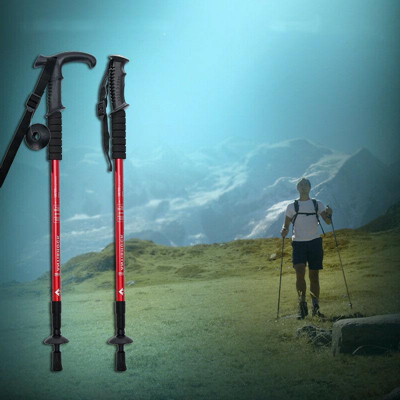 trekking walking hiking sticks anti shock adjustable