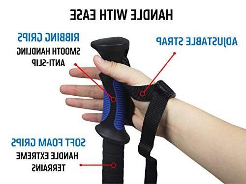 TREKONE Lightweight Trekking Poles Telescopic Hiking Walking Quick Release Lever Ergonomic Grip