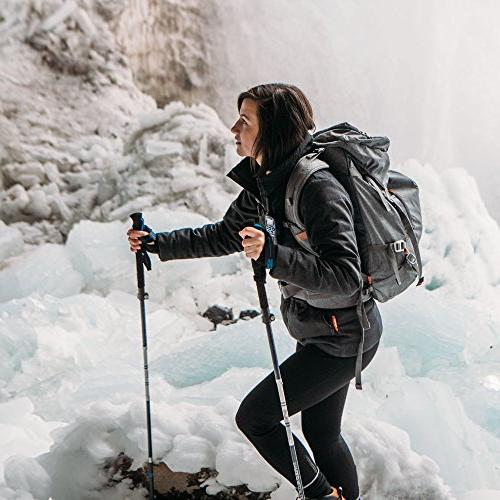 Paria Outdoor Tri-Fold Alloy Poles/Sticks - Adjustable, and Ultralight Perfect for and Snowshoeing