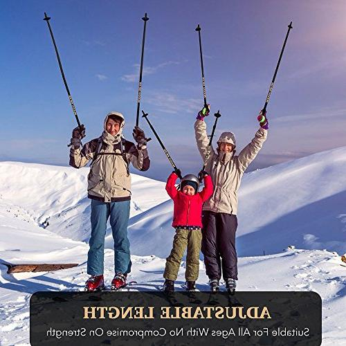 MUDDY Trekking Poles - Pack Adjustable Hiking Poles - Poles - Strong, - Stronger Fiber Cork Grip, Padded Strap
