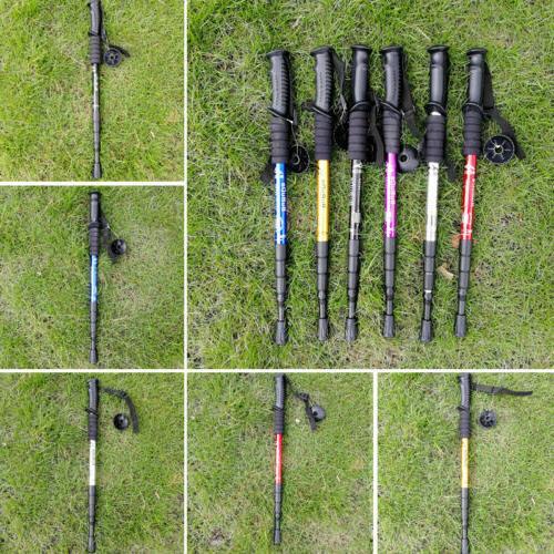 USA Retractable Shock Walking Sticks Hiking Poles