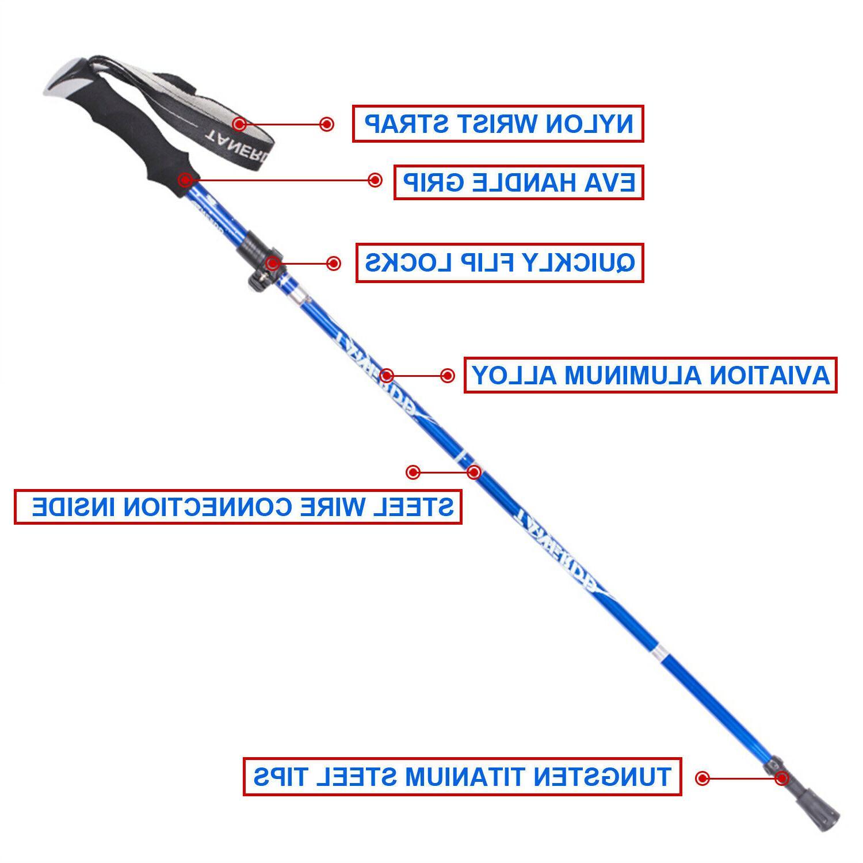 Walking Collapsible Hiking Poles Sticks Hiking,