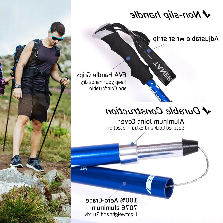 Walking Stick Collapsible Hiking Poles Trekking Hiking,