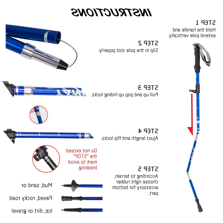 Walking Stick Poles Trekking Sticks Hiking,