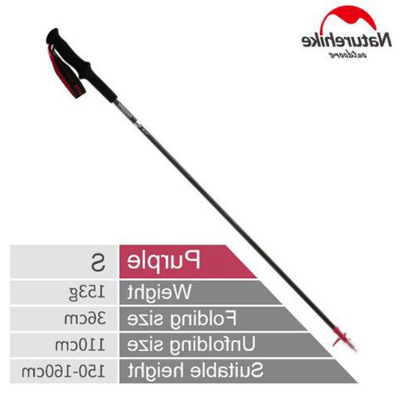 walking sticks trekking poles 4 sections adjustable