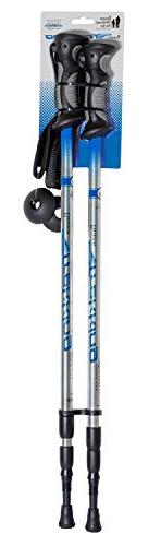 Brazos Poles: Collapsible Hiking/Walking Stick with Anti Shock Technology and Poles Women - Blue
