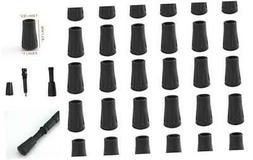 MIAO JIN 30 Pack Rubber Tips for Trekking Poles Replacement