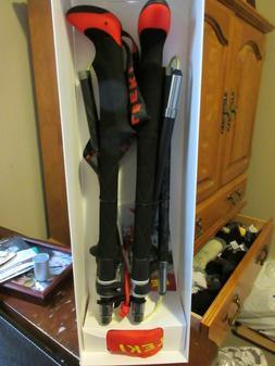 New Leki Micro Vario Carbon Trekking Hiking Poles Size 110 -