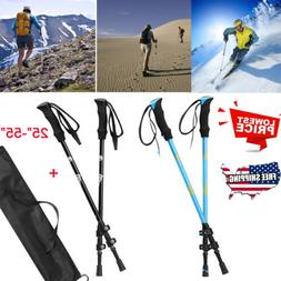 New Pair 2 Trekking Walking Hiking Sticks Poles Alpenstock A