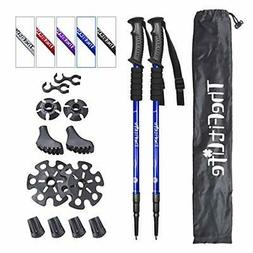 TheFitLife Nordic Walking Trekking Poles with Antishock and