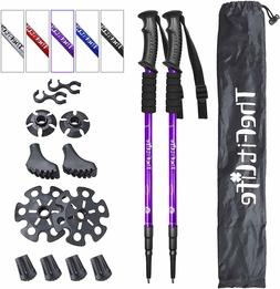 TheFitLife Nordic Walking Trekking Poles - 2 Pack with Antis