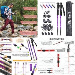 Nordic Walking Trekking Poles 2 Packs W Antishock & Quick Lo