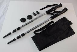 One Pair Walking Hiking Sticks Poles Alpenstock anti-shock +