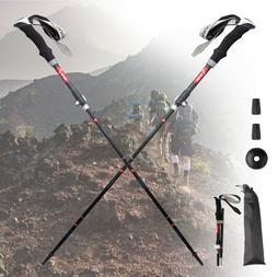 Outdoor Folding Trekking Poles/Sticks Alpenstock Hiking Moun