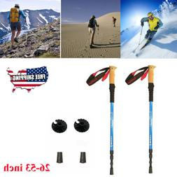 pair 2 alpenstock trekking poles aluminum 7075