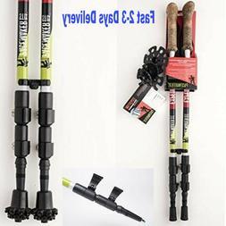 Pair 2 Trekking Poles Walking Hiking Sticks Adjustable Anti-