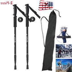 Pair 2 Trekking Sticks Poles Alpenstock Walking Hiking anti-