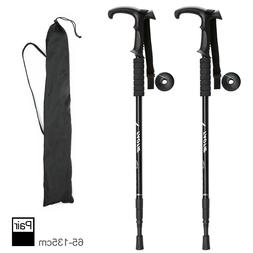 Pair 2 Trekking Walking Hiking Sticks Poles Alpenstock anti-