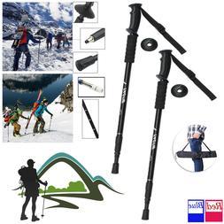 Pair 2 Trekking Walking Hiking Sticks Poles Alpenstock anti-