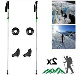 Pair 2 Trekking Walking Hiking Sticks Poles Collapsible Adju