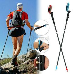 Pair 2PCS Trekking Walking Hiking Sticks Poles Adjustable Al