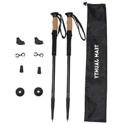 Pair Trekking Walking Hiking Sticks Poles Adjustable Alpenst