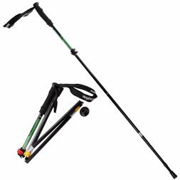 Portable Trekking Pole Foldable Hiking Stick Ultralight, Adj