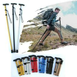 Portable Trekking Poles Carbon Fiber Telescopic Folding Cane