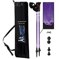 York Nordic Purple Haze Design Hiking & Walking Poles - Ligh
