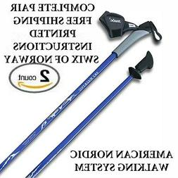 REAL NORDIC SKI WALKING POLES FROM SWIX, LEKI, EXEL! HIKING