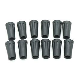 12Pcs Replacement Rubber Tip Protector Flex Walk Tip - Fits