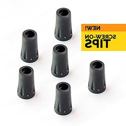 TrailBuddy 6-Piece Pack Replacement Rubber Tips for Trekking