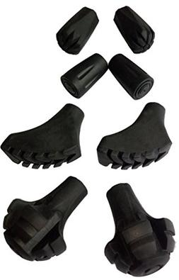 Alafen Replacement Rubber Tips Set for Trekking Poles-4 Pair