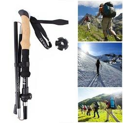 Telescopic folding Trekking pole Imitation cork EVA Trekking
