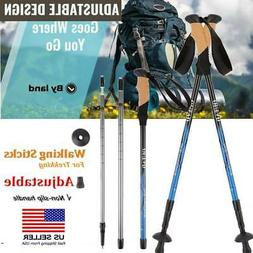 Telescopic Trekking Walking Hiking Stick Pole Adjustable Len